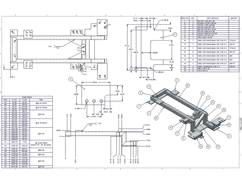 Fabrication Drawings Microdra Design Solutions